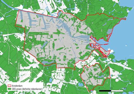 Groene gebieden rond Amsterdam